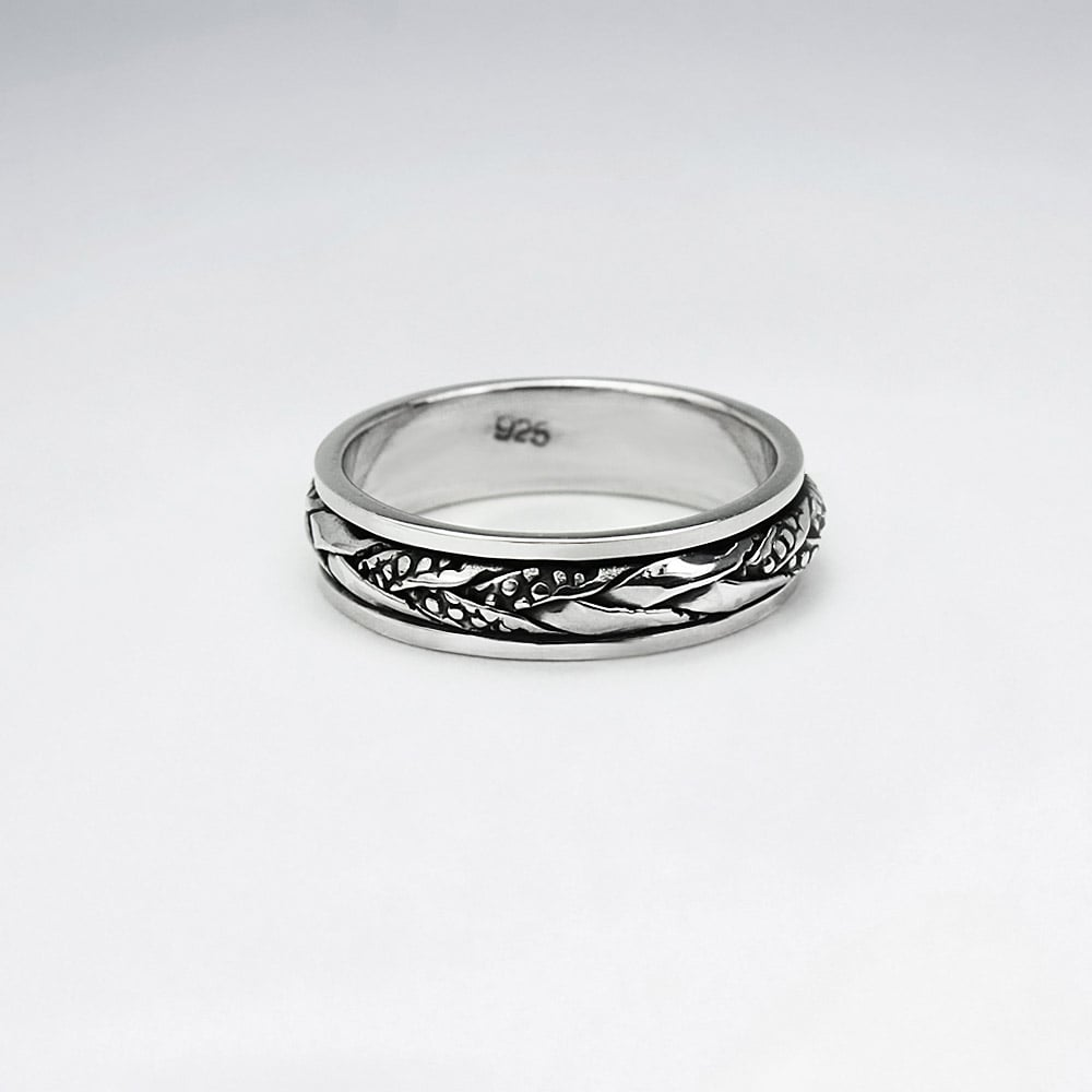 silver rings index mexico oxidized overlaid ring daisies