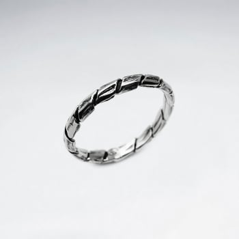 Oxidized Silver Coiled Twist Ring
