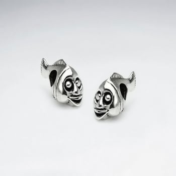 Oxidized Silver Comical Theatre Fish Beads