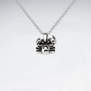 Oxidized Silver Creature Pendant