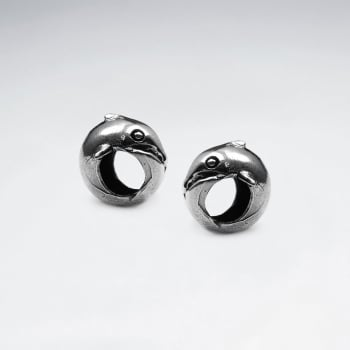 Oxidized Silver Eel Bead Pack Of 5 Pieces