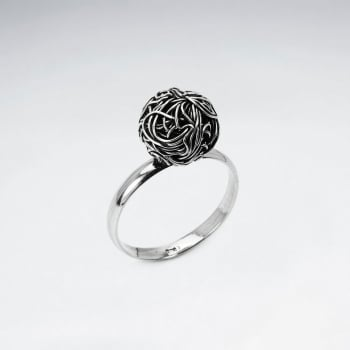 Oxidized Silver Love Knot Ring