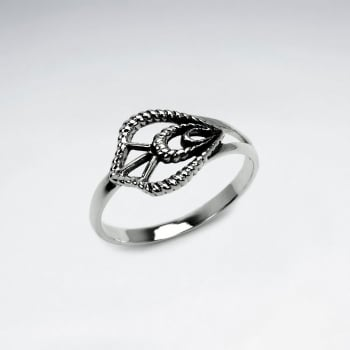 Oxidized Silver Ornate Delights Textured Openwork Ring