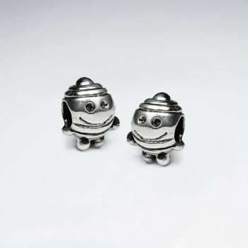 Oxidized Silver Smile Guy Bead Pack Of 5 Pieces