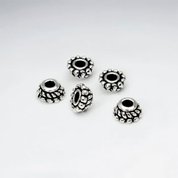 Oxidized Silver Swirl Beads Pack Of 30 Pieces