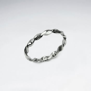 Oxidized Silver Twist Dimensions Fashion Ring