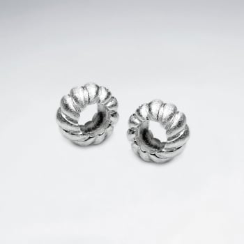 Oxidized Silver Twisted Wreath Circle Bead Pack Of 5 Pieces
