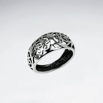 Oxidized Sterling Silver Filigree Design Ring