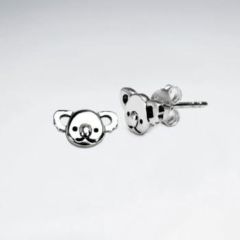 Oxidized Sterling Silver Koala Bear Earrings