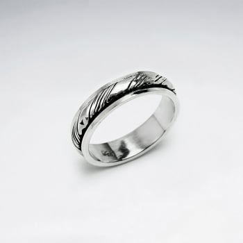 Oxidized Sterling Silver Smooth Twist Ring
