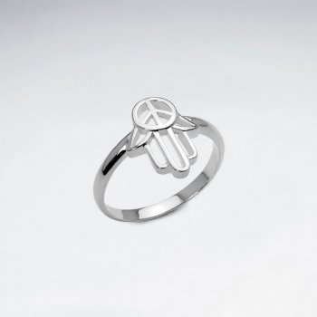 Peace in Hand Sterling Silver Openwork Ring