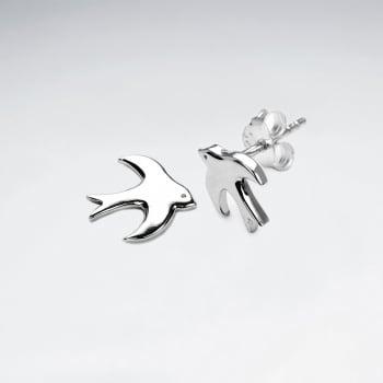 Peaceful Flight Bird Silhouette Earrings