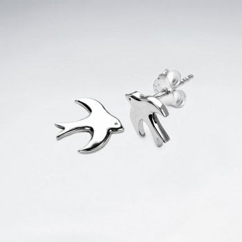 Peaceful Flight Bird Silhouette Earrings