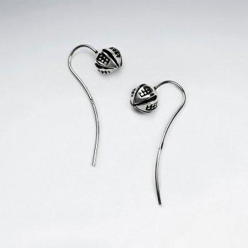 Petite Blossom Oxidized Flower Earrings