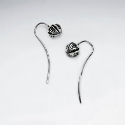 Petite Blossom Oxidized Flower Earrings