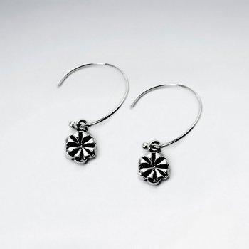 Petite Oxidized Asterisk Dial Earrings