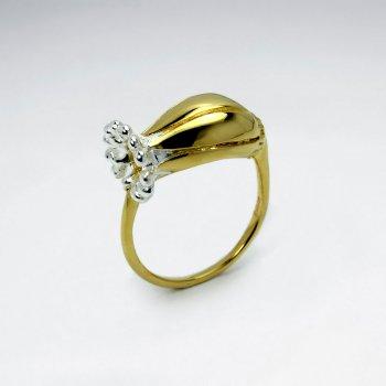 Polished Silver Flower Bloom Ring