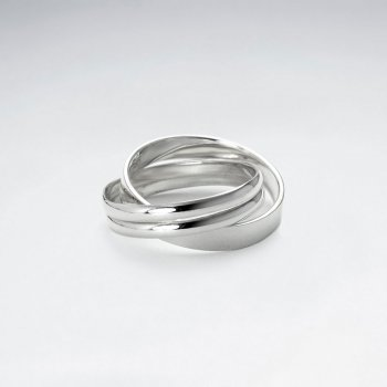 Polished Stackable Sterling Silver Rings