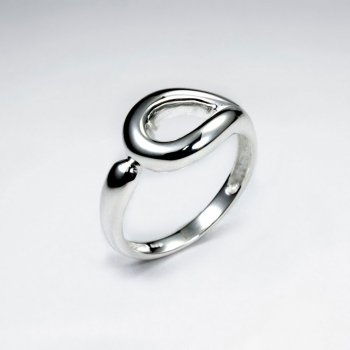 Polished Sterling Silver Cutout Teardrop Ring