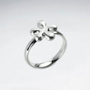 Polished Sterling Silver Splat Design Ring
