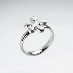 Polished Sterling Silver Splat Design Ring