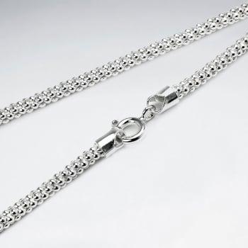 Popcorn 925 Silver Chain