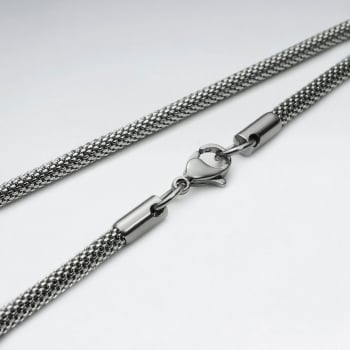 Popcorn Chain Stainless Steel Necklace Pack Of 5 Pieces