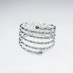 Posh Sterling Silver Rope Spring Coil Ring