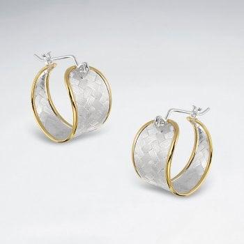 Premier Basket Weave Huggie Hoop Earrings