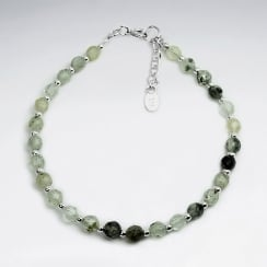 Prenite Full Ball Bead & Sterling Silver Bracelet