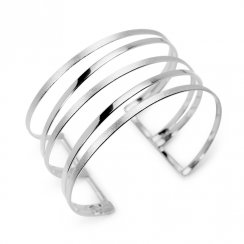 Goddess Inspired Open Angle Bangle Cuff