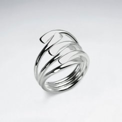 Pure Form Elegant Statement Ring in Sterling Silver