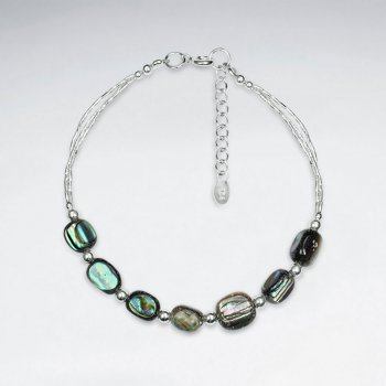Rectangle Pawa Silver Bracelet