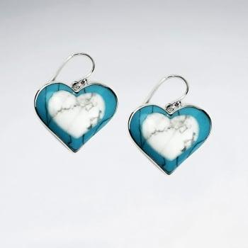 Romance of the Heart Howlite & Sterling Silver Dangle Earrings