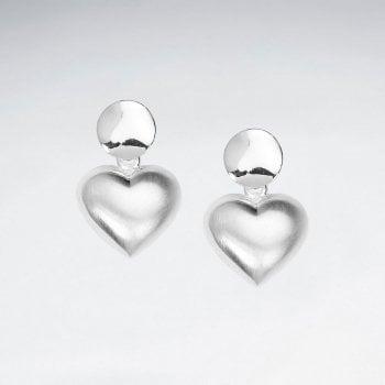 Romantic Heart Shaped Stud Drop Dangle Earrings