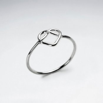 Romantic Open Wirework Sterling Silver Heart Ring