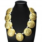Sea Shells Illusions Sterling Silver Statement Necklace