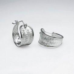 Sensational Silver Decorative Petite U-Hoop Earrings