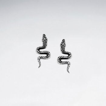 Serpent Sterling Silver Stud Earrings