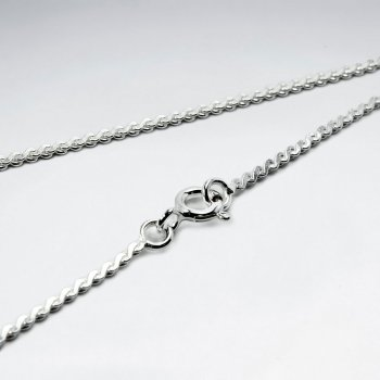 Serpentine 925 Silver Chain