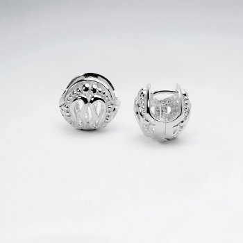 Set to Impress Sterling Silver Openwork Dimensional Ball Earrings