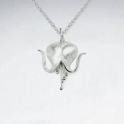 Silver Bleeding Heart Pendant