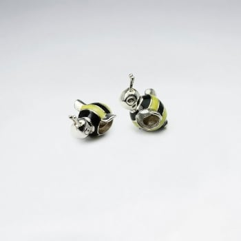Silver Colored Bumblebee Beads