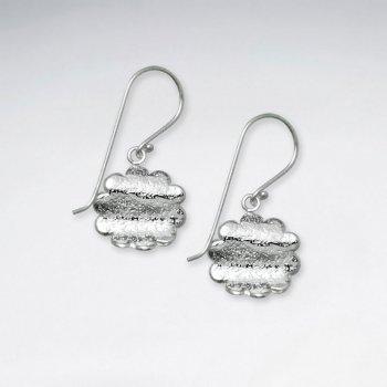 Silver Flower Inspired Dangle Earrings