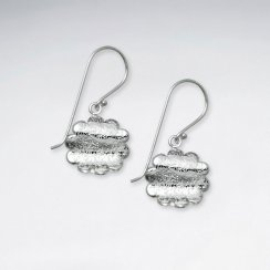 Silver Flower Inspired Dangle Earrings