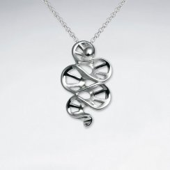 Silver Spiral Ladder Style Pendant