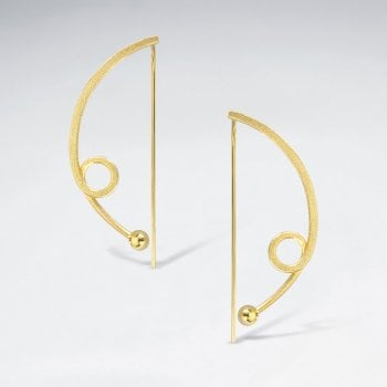 Simple Abstract Openwork Silver Hook Earrings