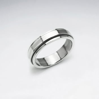 Sleek Silver Oxidized Ring