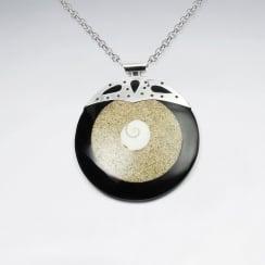 Smooth Classy San Resin Shiva Eye Circle Pendant