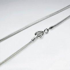 Snake Round 925 Silver Chain